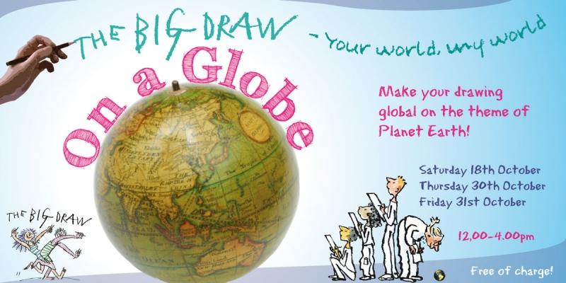 Draw on a Globe