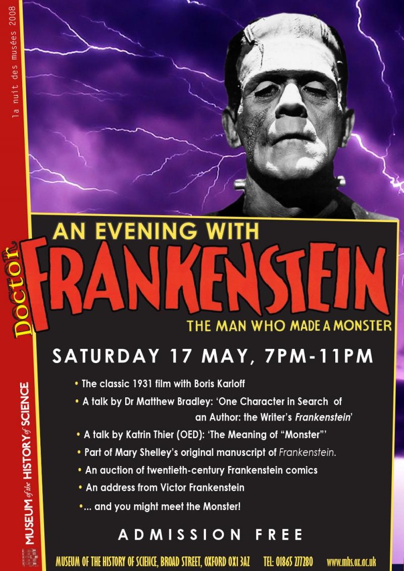 An Evening with Dr Frankenstein