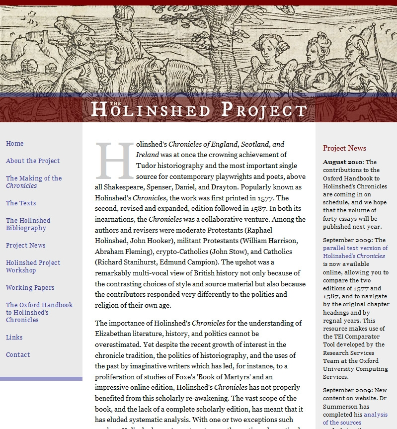Holinshed project