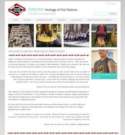 Origins homepage