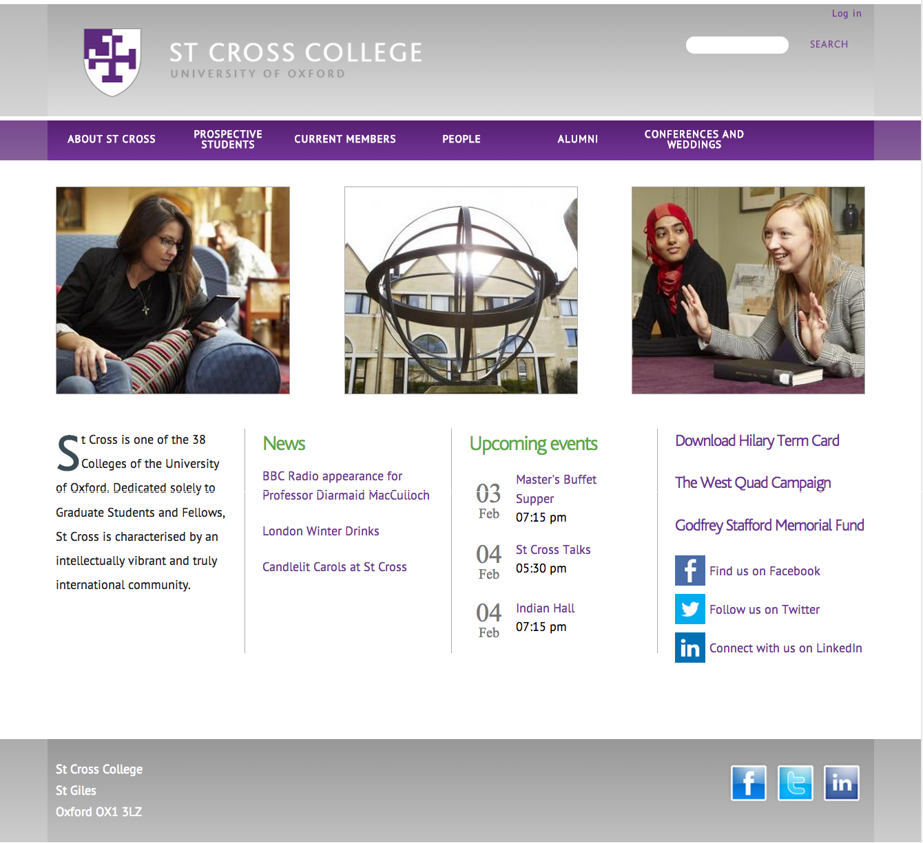 St Cross College, University of Oxford